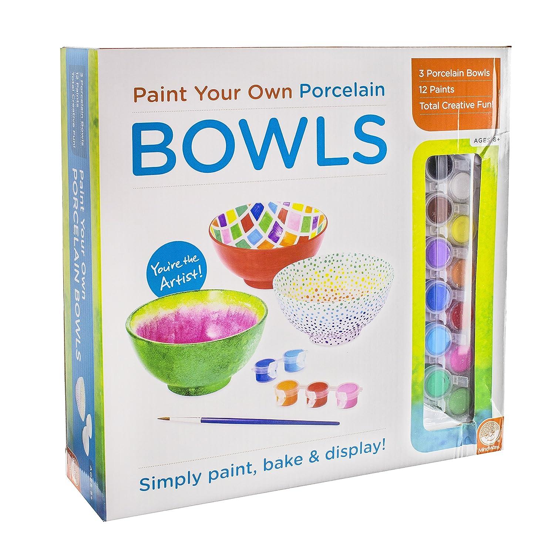 MindWare Paint Your Own Porcelain: (Bowls) Toy Rejects from Studios 56003 Toys Dolls & Puppets Children: Grades 2-3 JUVENILE NONFICTION / Toys