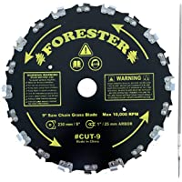 Forester Chainsaw Tooth 9″ Brush Blade with 3/16″ Round File 2 Piece Bundle