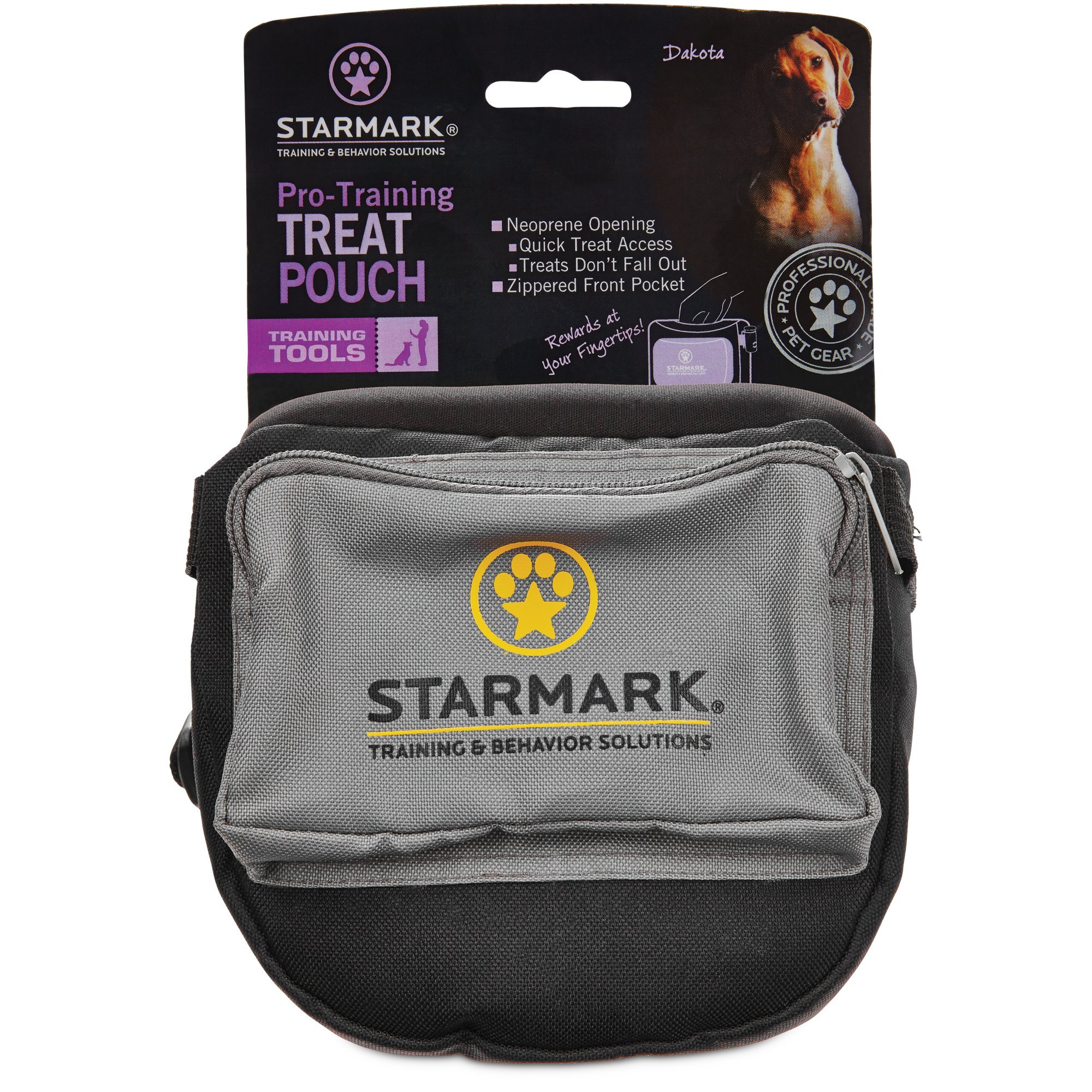 Triple Crown Pro Training Neoprene Treat Toy Pouch Adjustable Strap for Pet Dogs by StarMark