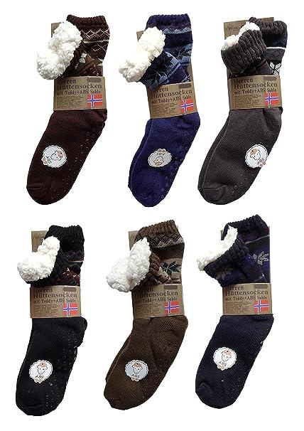 Cubierta suave y kingcamp calcetines para hombre de ABS con diseño de oso de piel de