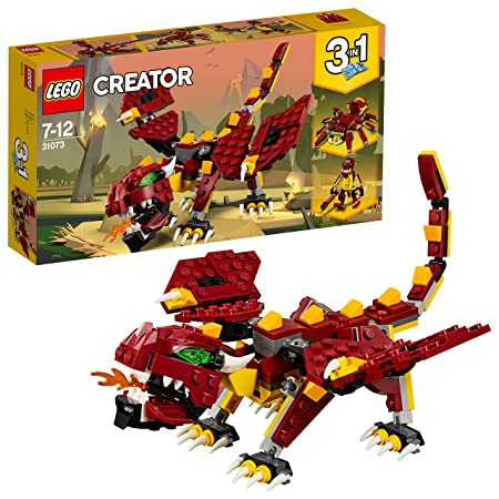 LEGO Creator 3in1 Mythical Creatures Building Blocks for Kids 7 to 12 Years (223 Pcs) 31073 (Multi Color) Model Figure Kits at amazon