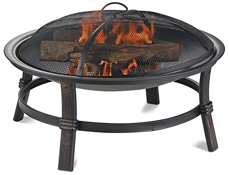 ndless Summer Brushed Copper Wood Burning Outdoor Firebowl