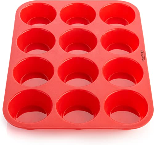 OvenArt-Bakeware-12-Cup-European-LFGB-Silicone-Muffin-Pan