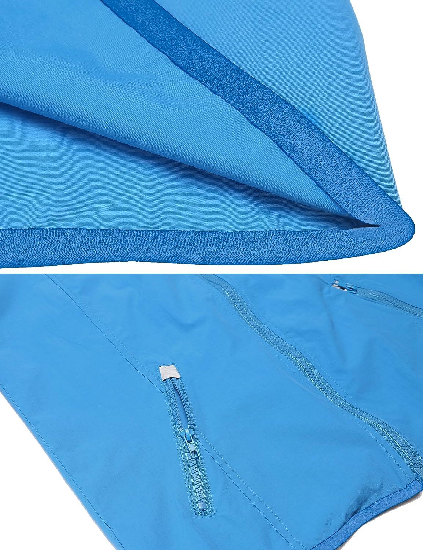 Meaneor Damen Regenmantel mit Kapuzen Wasserdicht Winddicht Regenjacke Funktionsjacke Kurze Jacke /Übergangjacken Softshelljacken Atmungsaktive Outdoor