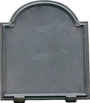 Placa de Chimenea en Hierro Fundido Deco | Dimensiones: 60x60 - Espesor 1,2 cm: Amazon.es: Hogar