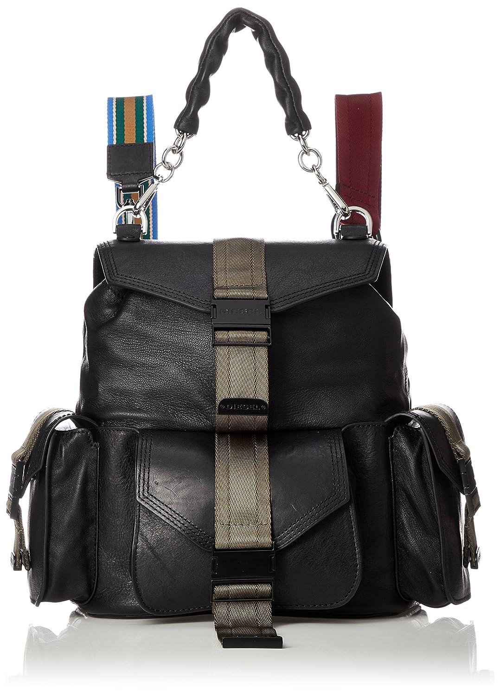 (ディーゼル) DIESEL レディース マルチカラー リュック MISS-MATCH MISS-MATCH BACKPACK backpack X05597P1743 B07CNFW6F3ブラック UNI (Free)