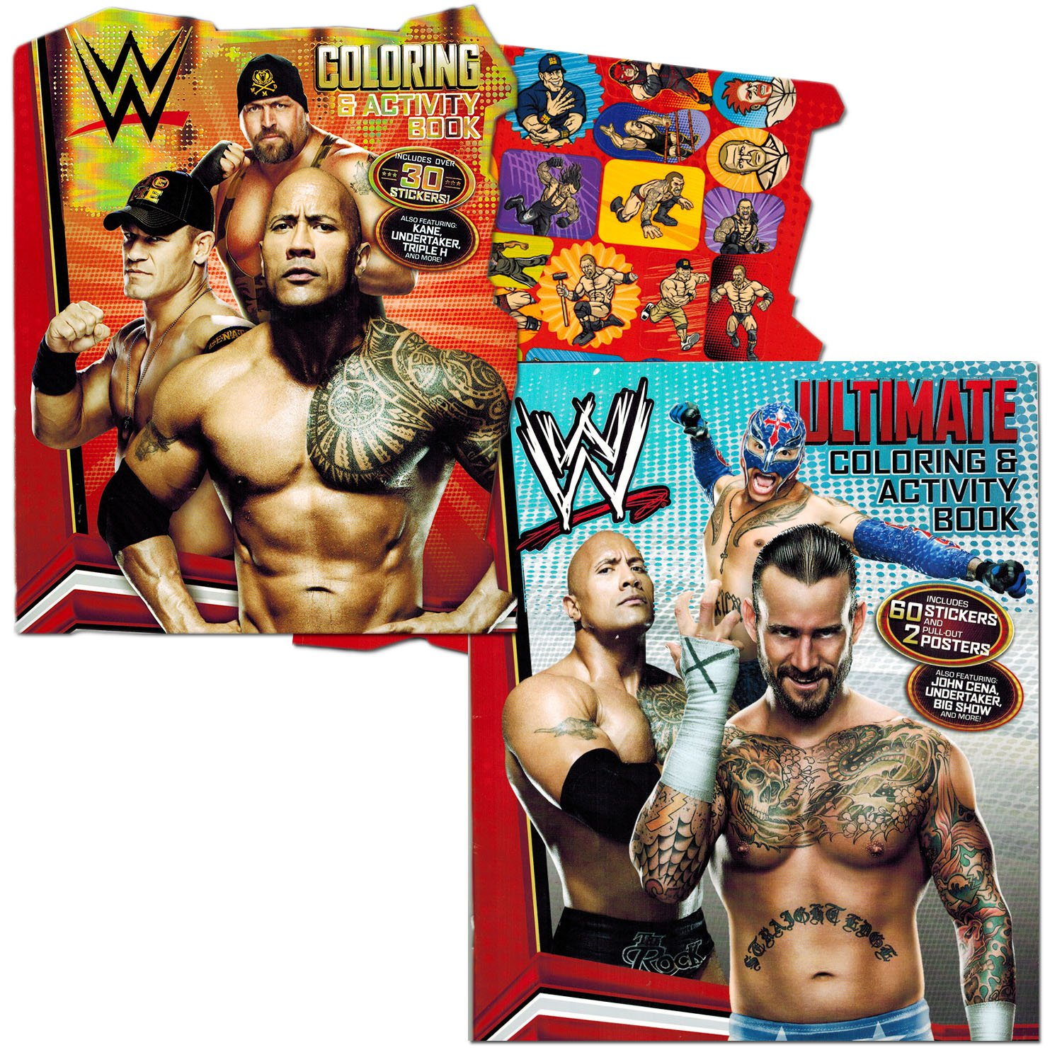 amazon com wwe coloring book set with stickers and posters 2
