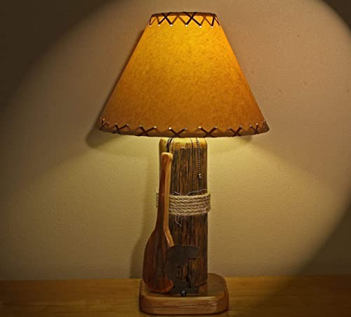 The Rainbow Lake Table Lamp w14 Parchment Shade