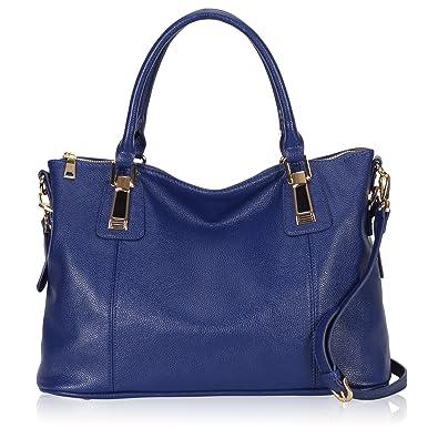 6710a34db258 Amazon.com  Hynes Victory Womens Large Tote Top Handle Shoulder Handbag  Crossbody Bags for Ladies Blue  Shoes