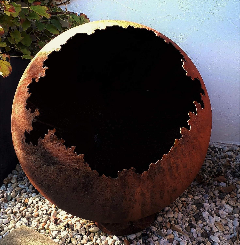 Feuerkugel Feuerschale Feuerkorb Pflanzschale Kugel Metall Rost