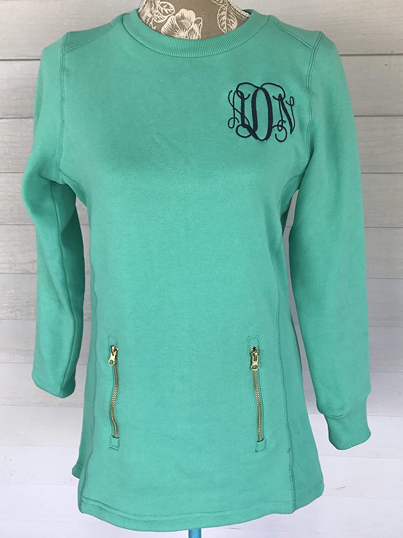 Monogrammed Charles River North Hampton Ladies Sweater Mint XSmall