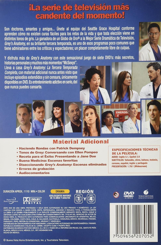 Grey\'s Anatomy. Temporada 3: Ellen Pompeo, Sandra Oh, Katherine ...
