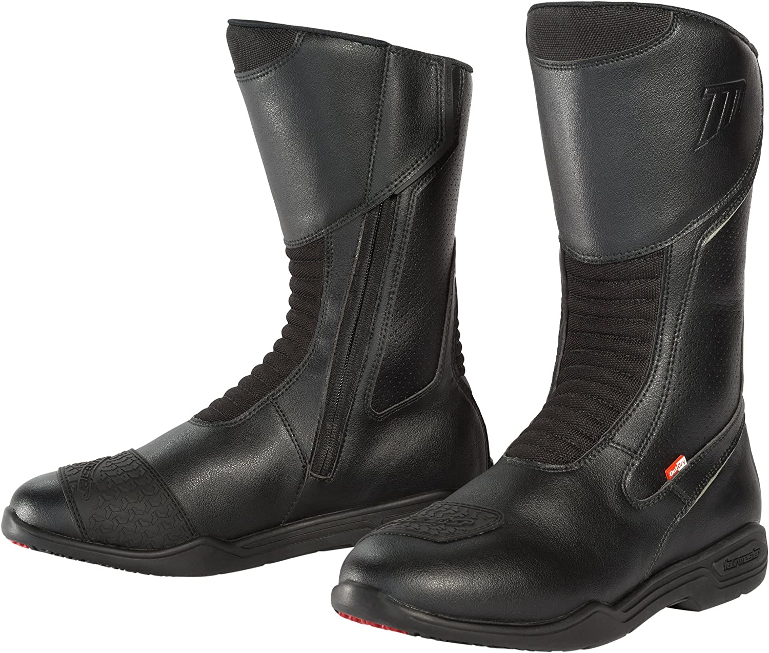 TourMaster Mens Epic Touring Motorcycle Boots Black, Size 11W