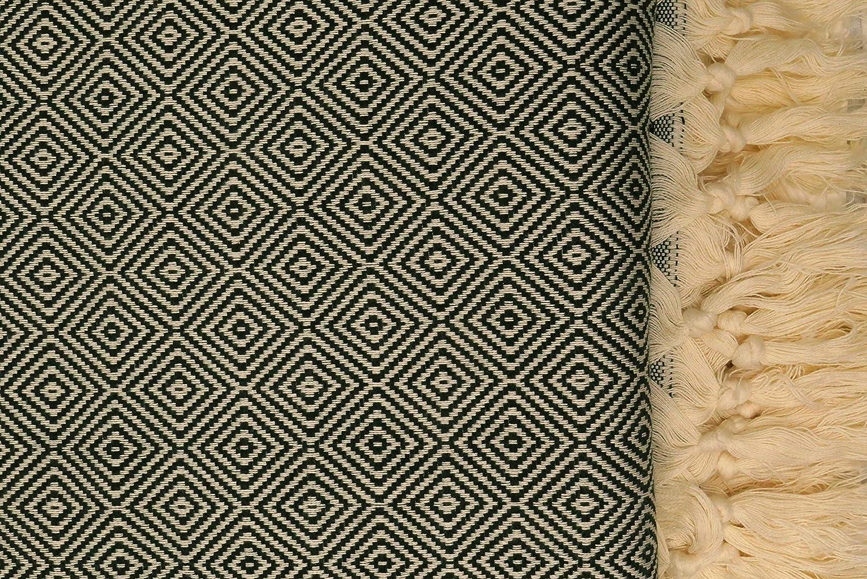 Stefano Ferrante ELMAS Tagesdecke Bett/überwurf /Überwurf Plaid Baumwolle 205x200 cm Beige