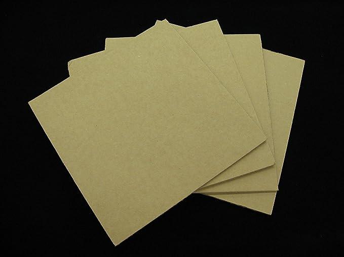 "pcs 4/"" x 6/"" Corrugated Cardboard Pad 32 ECT Pads Inserts Sheet 600"