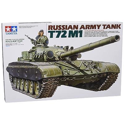 Tamiya Models T-72M1 Russian Army Tank: Toys & Games