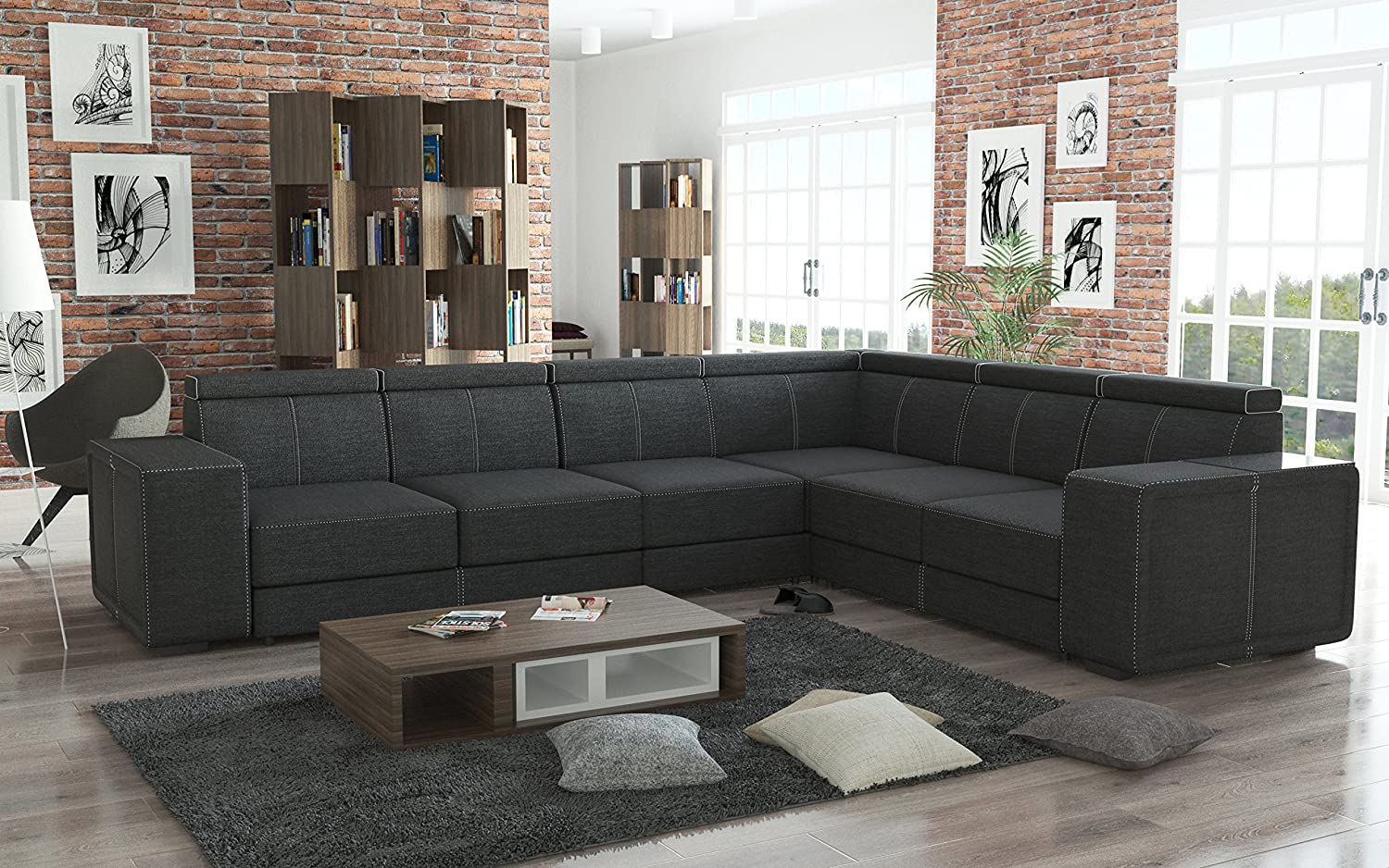 couchgarnitur couch garnitur sofa cari in boss 12 polsterecke wohnlandschaft online bestellen. Black Bedroom Furniture Sets. Home Design Ideas