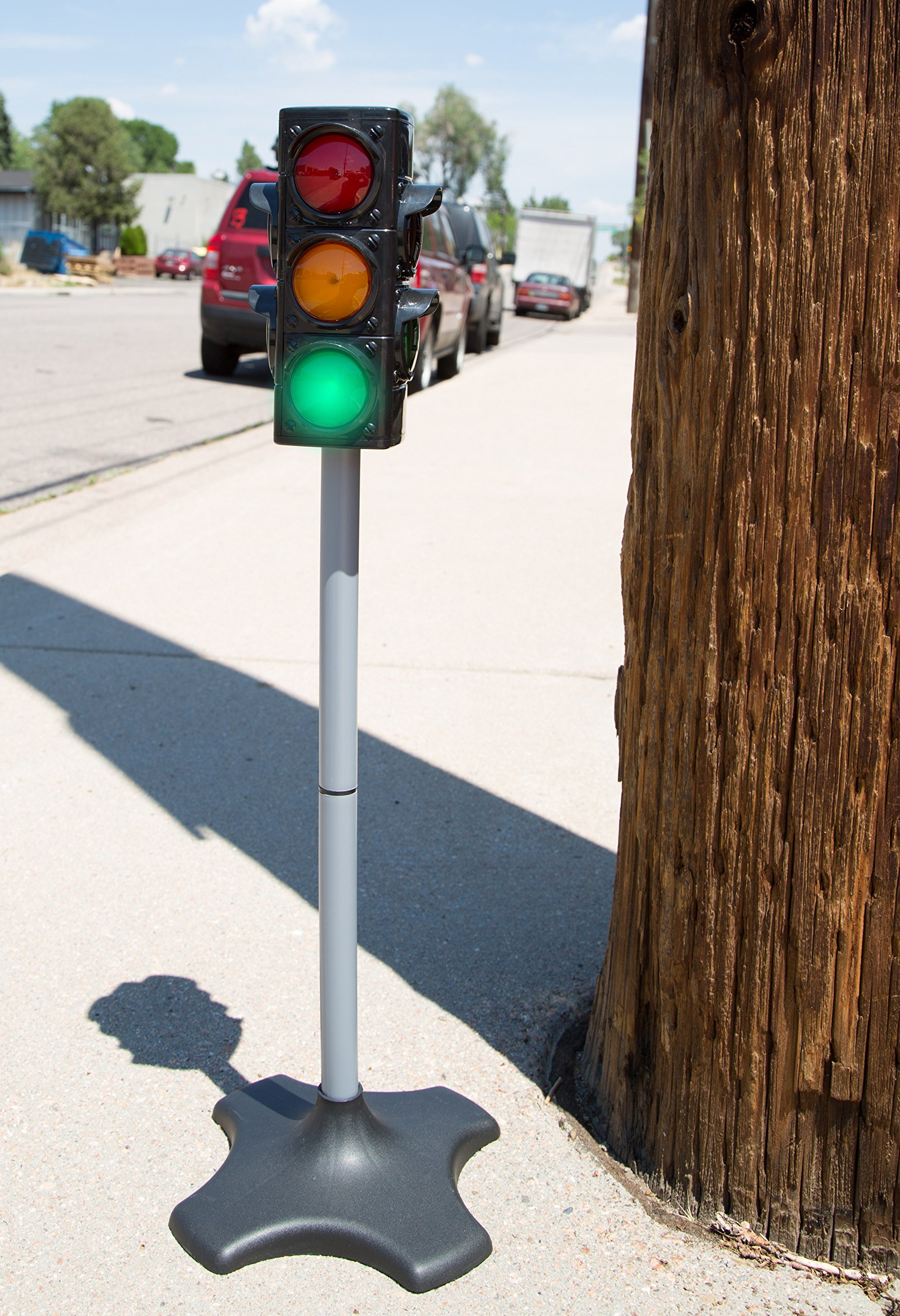 MMP Living Toy Traffic & Crosswalk Signal with Light & Sound - 4 Sided, Over 2 feet Tall by MMP Living (Image #6)