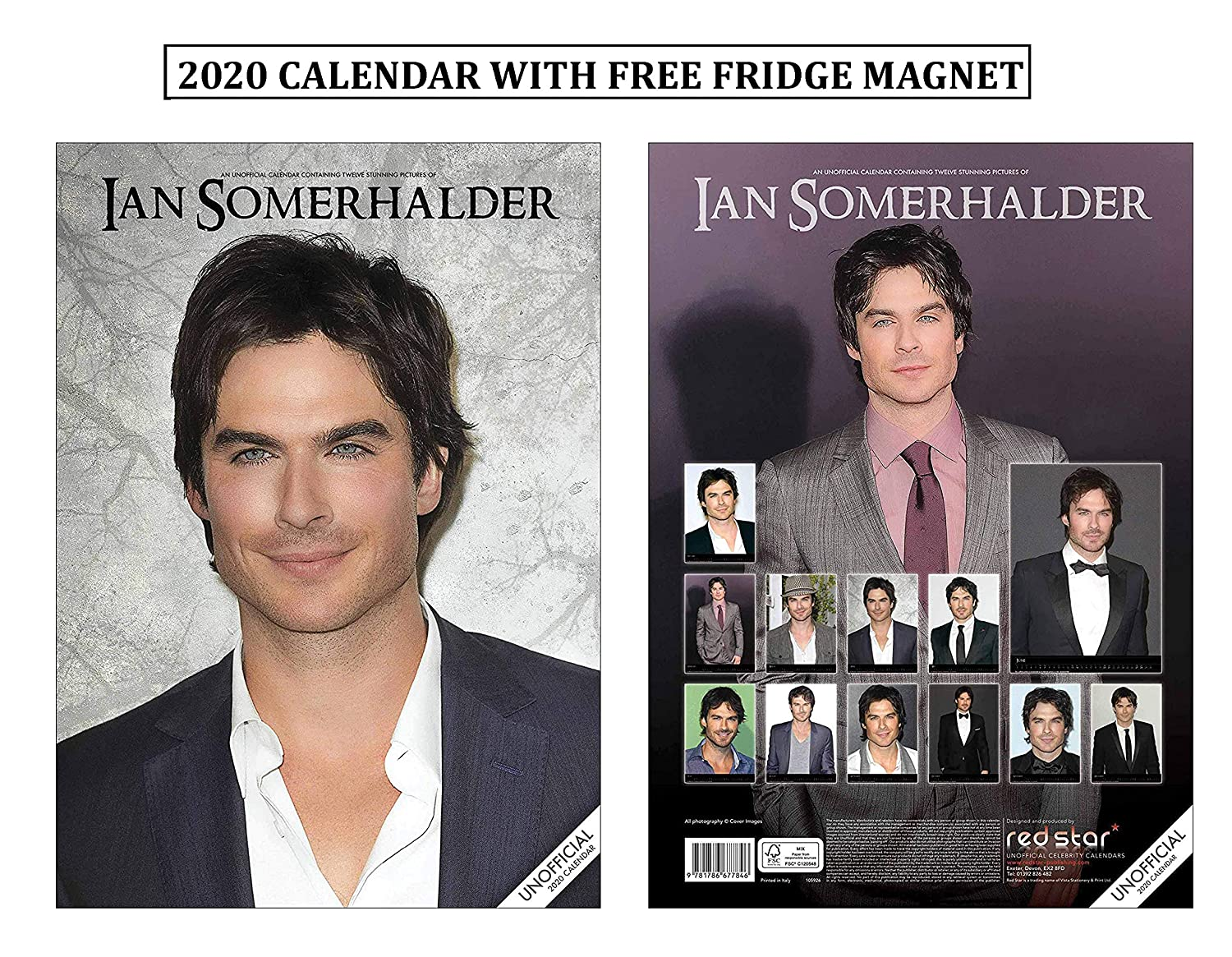 Ian Somerhalder Calendario 2020 With Ian Somerhalder Imán para ...
