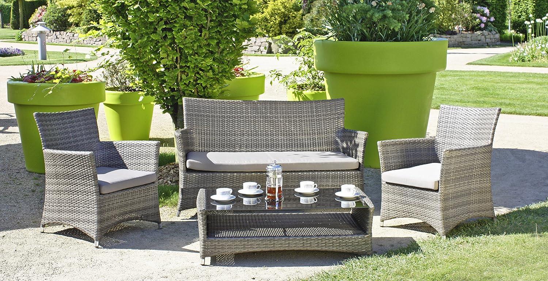 lounge gruppe pesaro 4tlg gartenm bel tischgruppe tisch sofa g nstig. Black Bedroom Furniture Sets. Home Design Ideas
