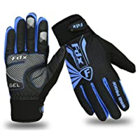 FDX Cycling Gloves Winter Cold Weather Windproof Full Finger Touch Screen Gloves