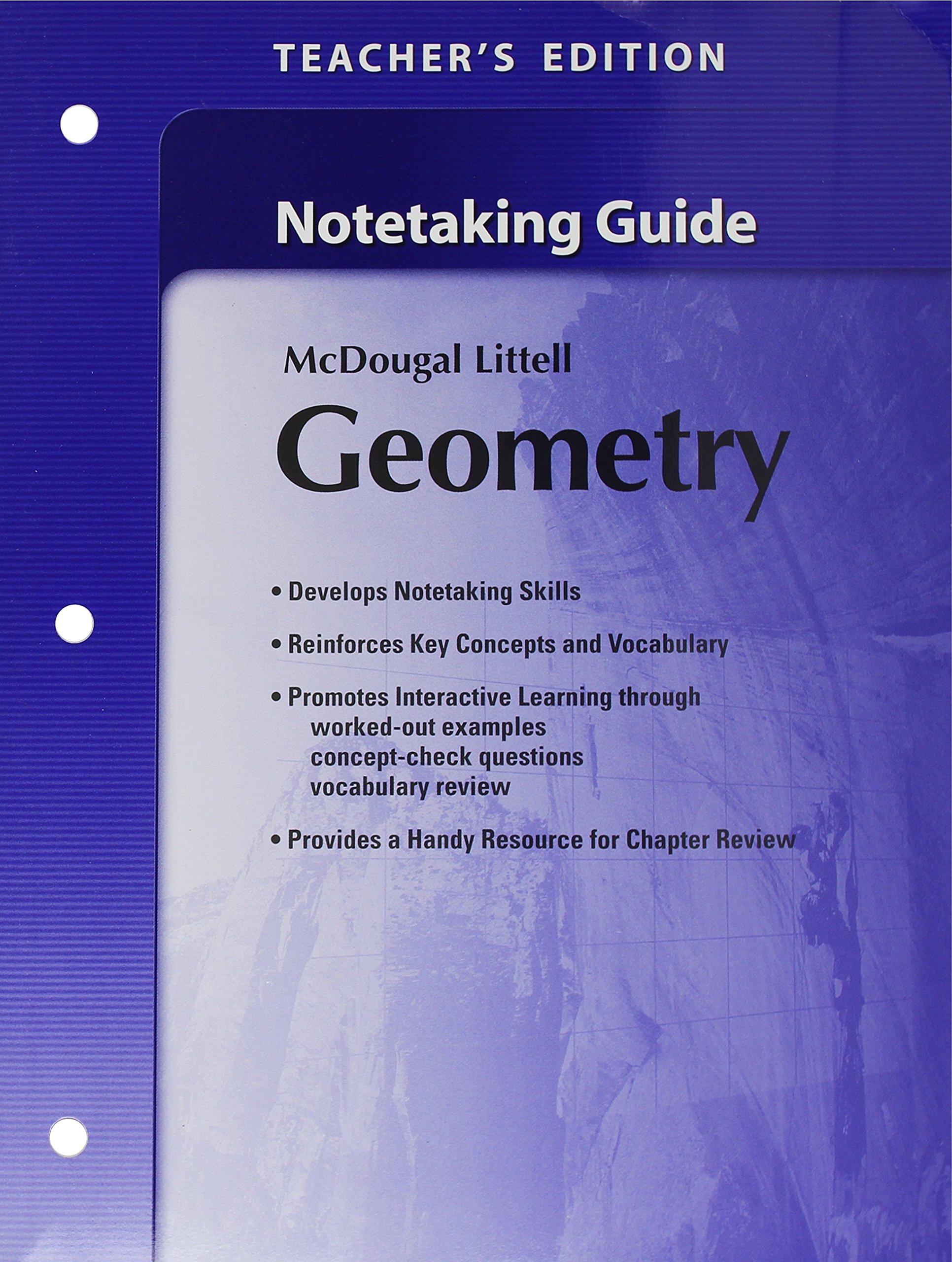 Amazon.com: Holt McDougal Larson Geometry: Teacher's Notetaking Guide  (9780618736898): MCDOUGAL LITTEL: Books