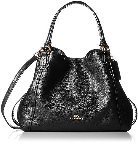 d654bb654 Coach Polished Pebble Lthr Edie 28 Shoulder Bag Bolsa para Mujer Negro  Talla Unitalla: Amazon.com.mx: WATCH CITY