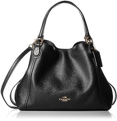 5c6b2596f0 Amazon.com: COACH Edie Ladies Medium Pebbled Leather Ladies Shoulder Handbag  57124: Shoes