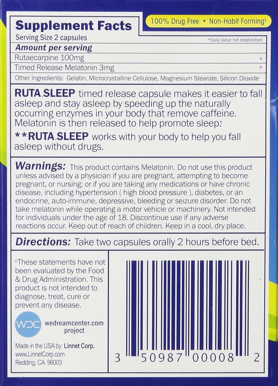 Amazon: Ruta Natural Acting Sleep Aid, 28 Count: Health & Personal Care