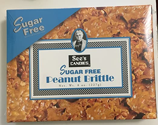 See's Candies Sugar Free Peanut Brittle 8 Oz by See's cadies
