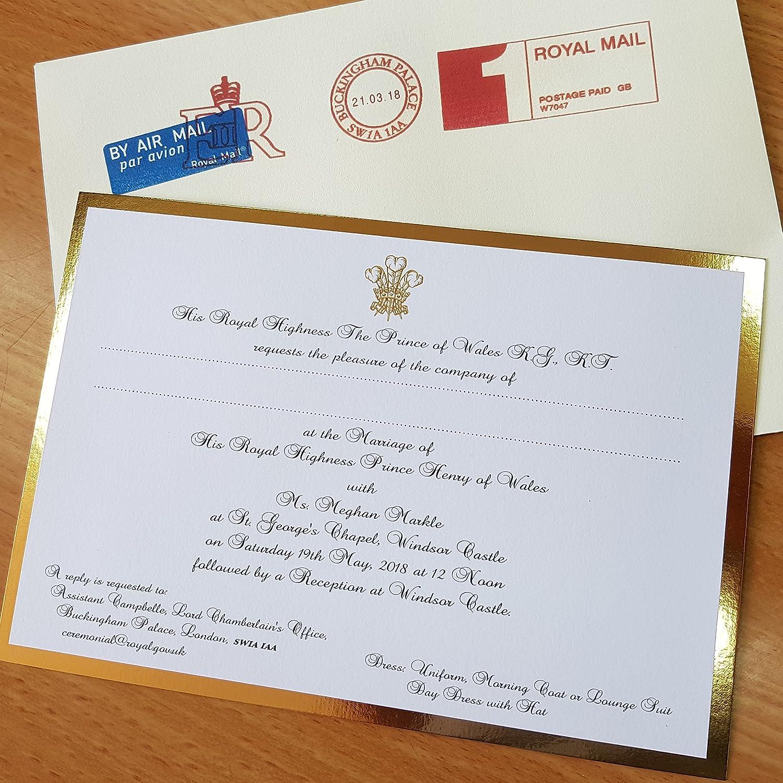 Amazon.com: Royal Wedding invitation Prince Harry & Meghan Replica ...