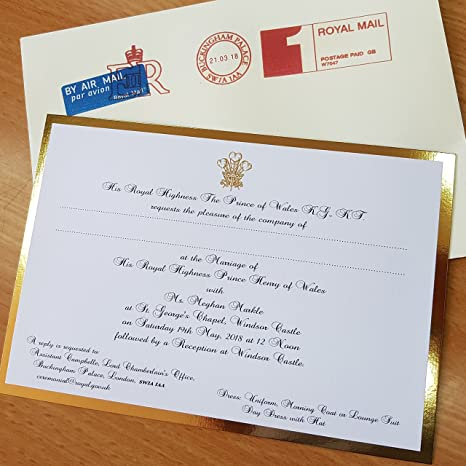 amazon com royal wedding invitation prince harry meghan replica