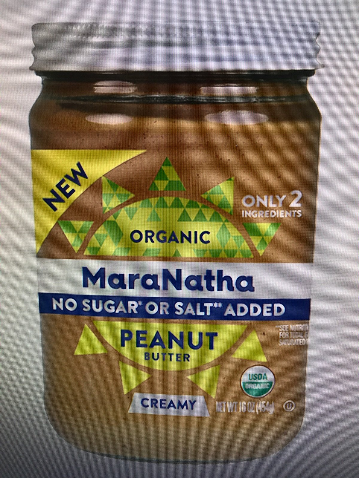 Maranatha Organic Creamy Peanut Butter no sugar or salt 16 oz (Pack of 3)