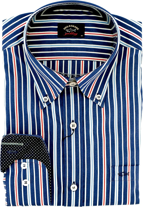 PAUL & SHARK - Camisa casual - Rayas - con botones - para hombre multicolor 42: Amazon.es: Ropa y accesorios