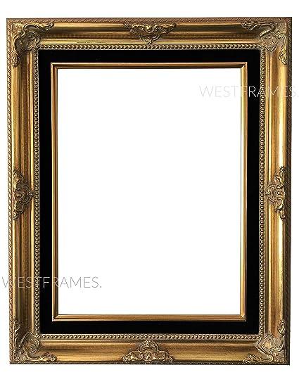 Amazon.com - West Frames Estelle Antique Gold Leaf Wood Picture ...