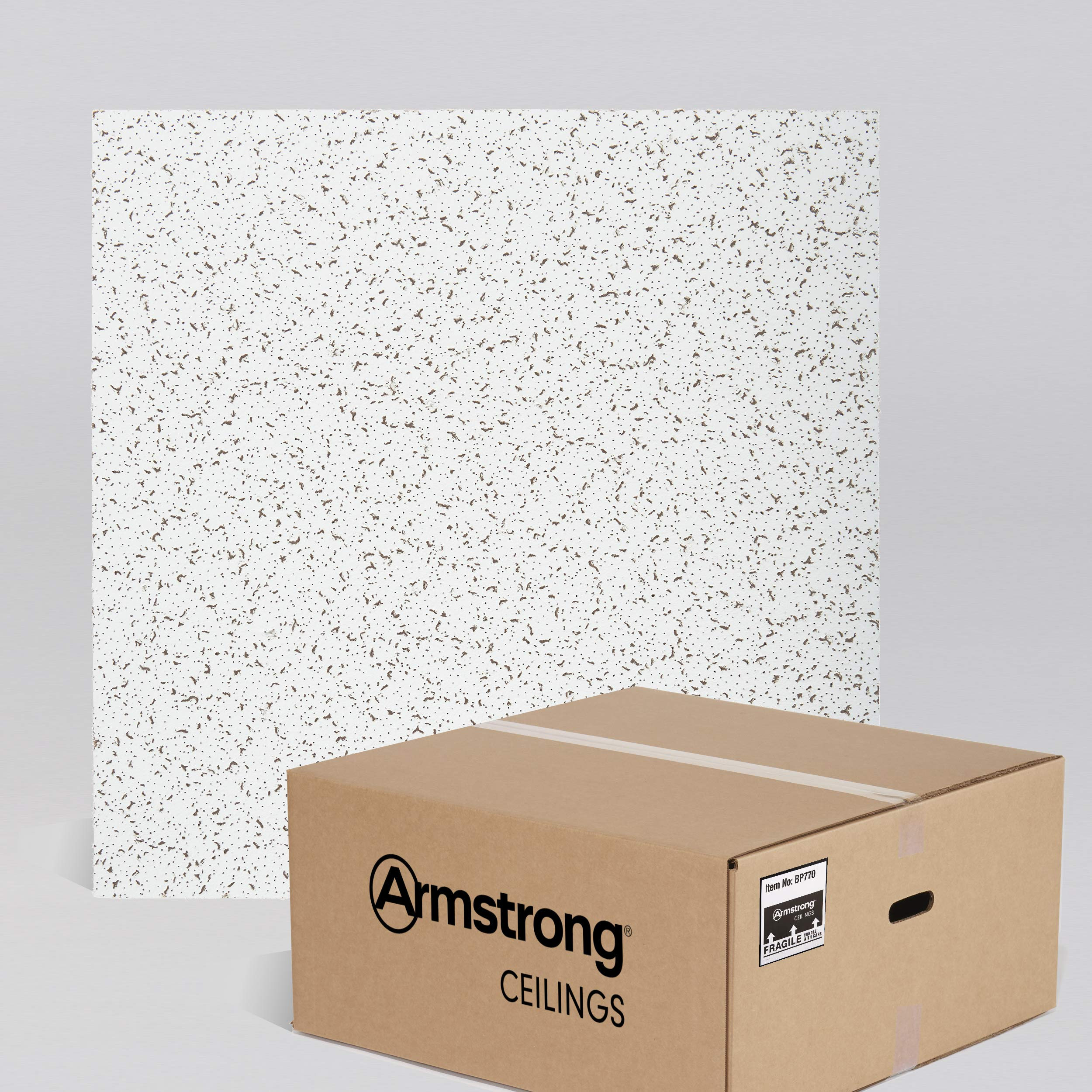 Armstrong Ceiling Tiles; 2x2 Ceiling Tiles - Acoustic Ceilings for Suspended Ceiling Grid; Drop Ceiling Tiles Direct from the Manufacturer; CORTEGA Item 770 – 16 pcs White Lay-in by Armstrong (Image #1)