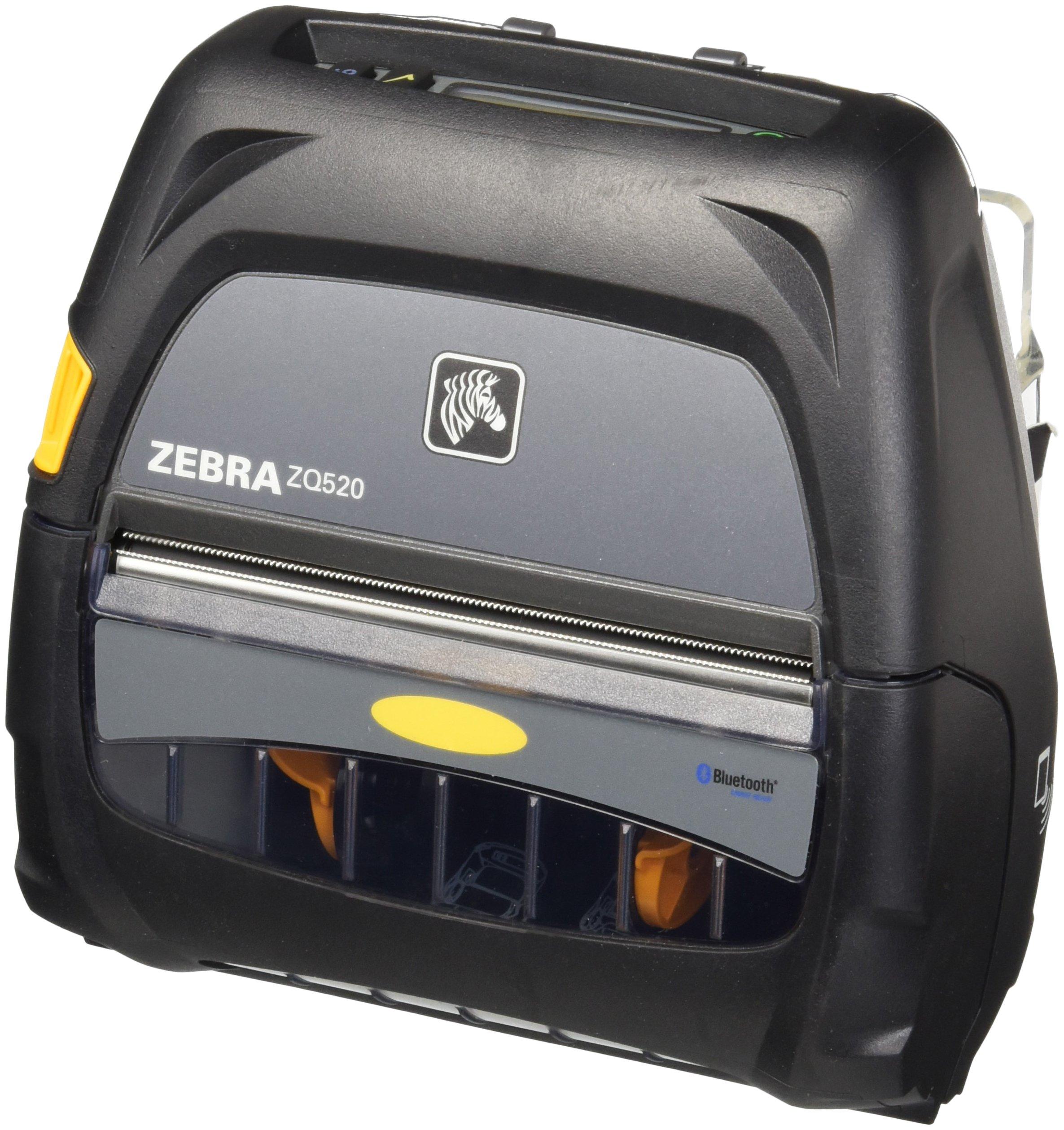 Zebra Technologies ZQ52-AUE0000-00 Thermal Printer, Portable, ZQ520, 4'' Size, Bluetooth 4.0, 203 DPI