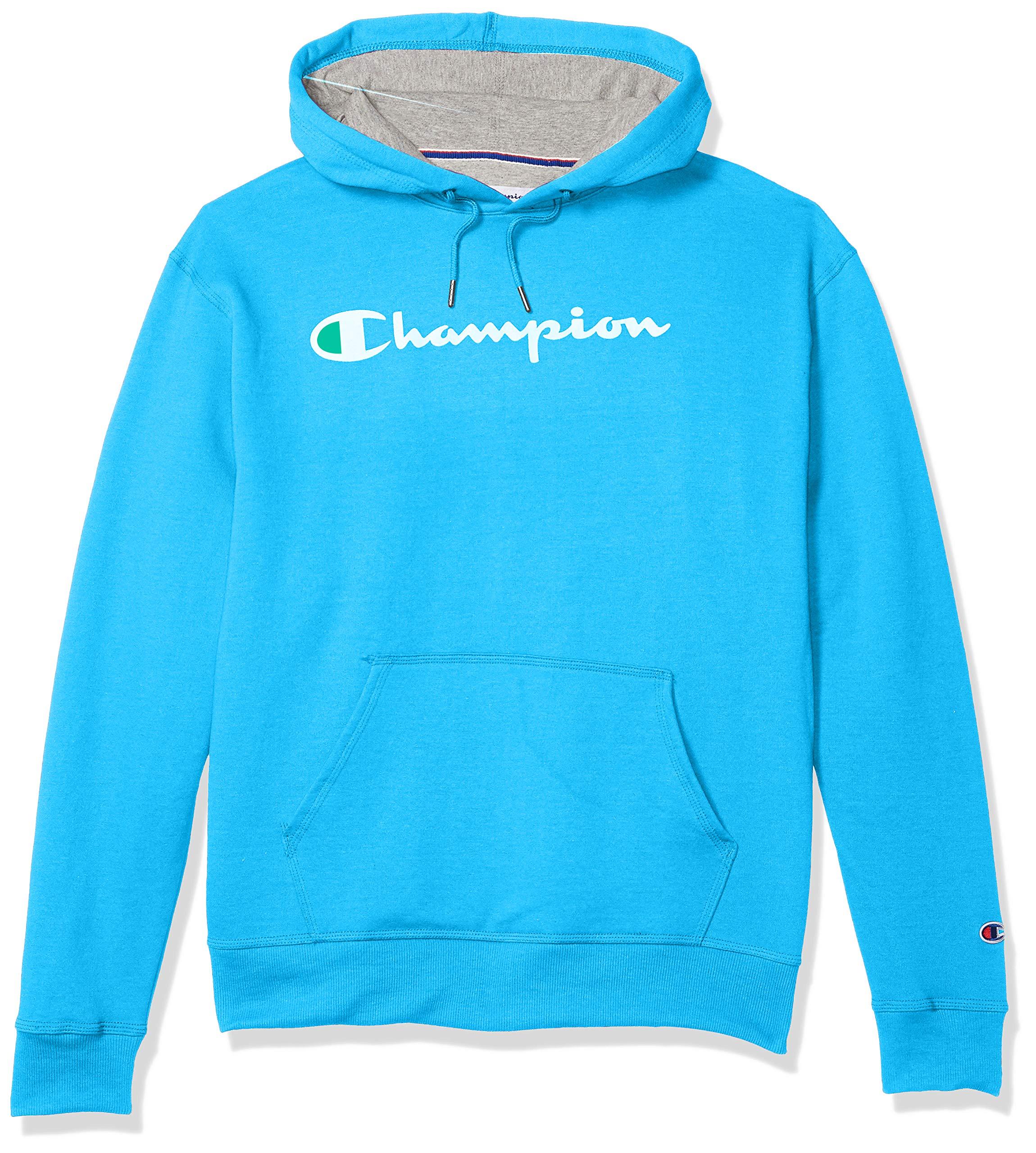Champion Mens Powerblend Graphic Hoodie Hooded Sweatshirt