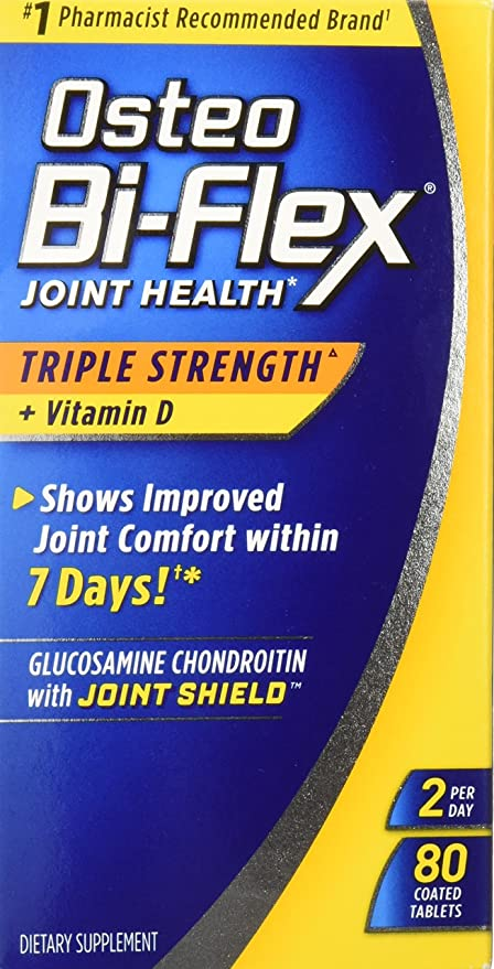 Osteo Bi-Flex Triple Strength w/ Vitamin D, 80 Coated Tablets