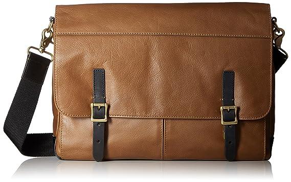 bb450767dd7e Amazon.com  Fossil Men s Defender Slim Leather Messenger Bag