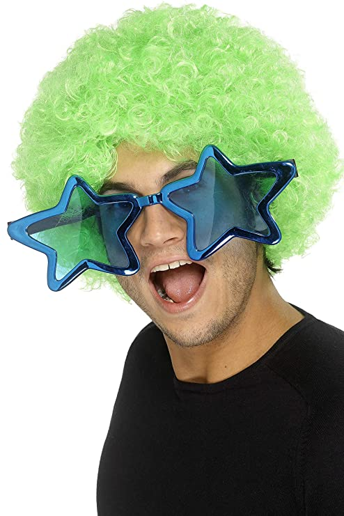 Jumbo Star Glasses for Adults. Ideal for fun 70s disco look.