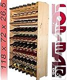 Wine Rack for 63 Bottles - Wood by Len Mar.de