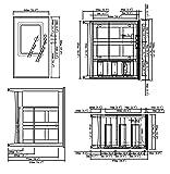 Simpli Home WINSTON-WH36-L Winston 36 inch