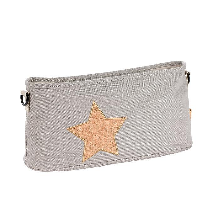 Lassig Casual organizador para carrito, corcho Star, color gris claro