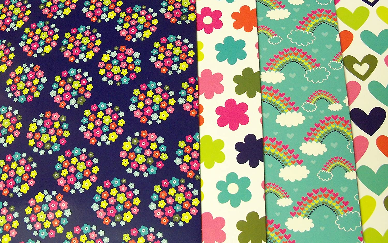 Amazon Com Pink Light Design 4 Folder Set Pop Patterns Flower