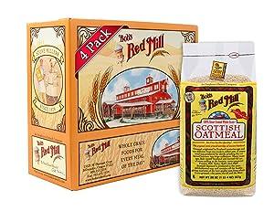 Bob's Red Mill Scottish Oatmeal, 20 Oz (4 Pack)