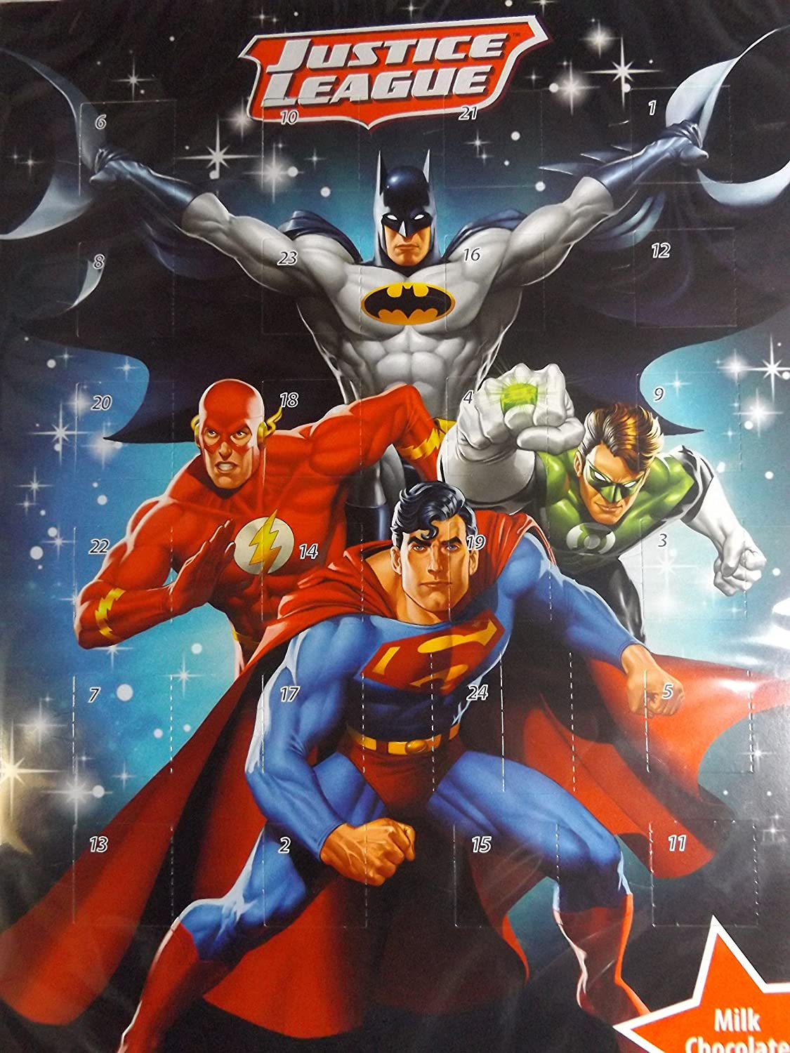 Advent Calendar Justice League Superman Batman Flash Green Lantern