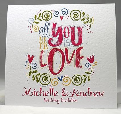 Partecipazioni Matrimonio I Love You.Partecipazioni Matrimonio Personalizzate Doppio Giorno O Di Sera