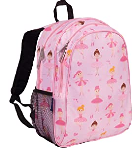 Wildkin Kids 15 Inch Backpack for Boys and Girls, Perfect Size for Preschool, Kindergarten and Elementary School, 600-Denier Polyester Fabric Backpacks, BPA-free, Olive Kids (Ballerina)