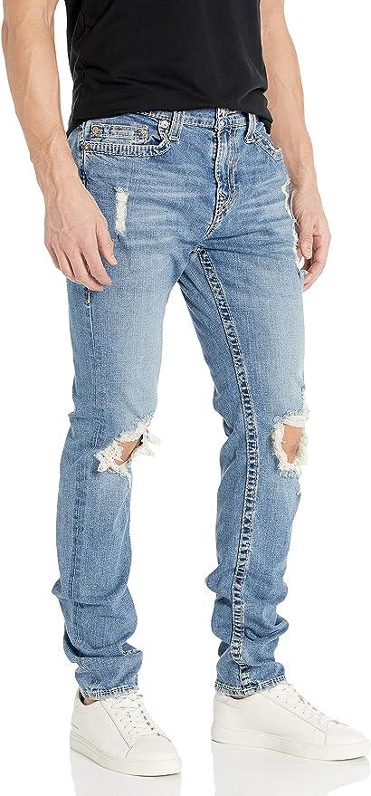 True Religion 真实信仰 Rocco Big T 破洞 男式牛仔裤 2.4折$59.96 海淘转运到手约¥470